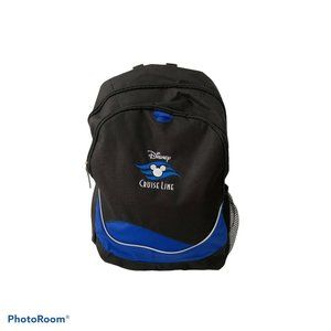 Disney Cruise Line DCL Black & Blue Backpack New